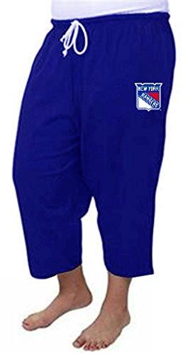 c30ba4867b78 VF New York Rangers NHL Majestic Women s Capri Sweatpants Royal Blue Plus  ...