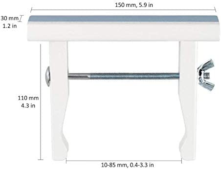 Support Universels MI 11//22 pour tablettes de radiateur de 12 /à 22 cm couleur laqu/é blanc