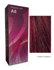Berina Hair Color Cream Permanent A08 -Burgundy color