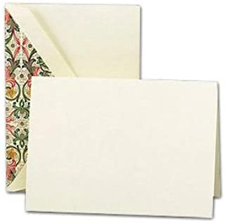 product image for Crane & Co. Ecruwhite Notes With Red Florentine Liner (CN1516)