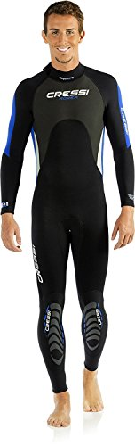 Cressi Morea 3mm Men's, Black Blue, Large