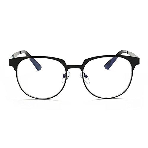 verres Cadre Aucune force optiques contre verres carré bleus de Black Inlefen métal les en rétro neutres T7dx1qwC