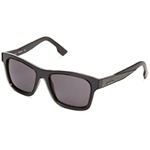 Diesel DL00715501A Wayfarer Sunglasses,Black,55 mm