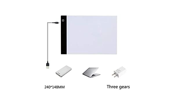 Portable LED Light Table Tracer Board Artcraft Light Pad for Artists Drawing DIY Painting Sketching Tattoo Animation Designing 4mm Zippem Ultra-Thin