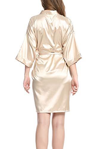 Le Donne Sposa Vestaglia Kimono Camicia Davanti Damigella Da Aperti Notte Sono Champagne Veste r1xwnCdqrX