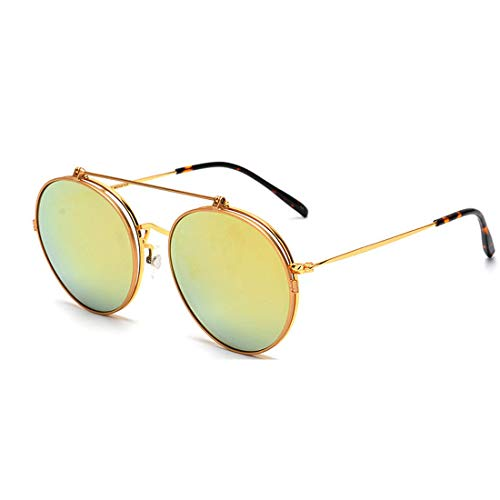 Frame Polarizadas Lens gold Para Gold Lente Mujer Uv Con color Gafas Metálica Montura Igspfbjn Sol De Lens 400 nwq6AZxpv