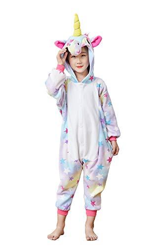 Xiqupjs Kids Animal Cartoon Unicorn Onesie Pajamas Sleepwear One-Piece Gift Star 85#
