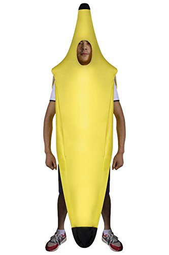 fanituhan ハロウィン バナナ 着ぐるみ コスプレ 衣装 大人用 黄色 おもしろ かぶりもの