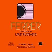Juego de cuerdas para Laud 12 cdas acero plateado Ferrer. Gato Negro