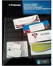 amazon com polaroid premium white mailing labels 240 ct label size