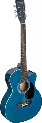 Stagg SA20ACE BLUE Auditorium Cutaway Acoustic-Electric Guitar - Blue