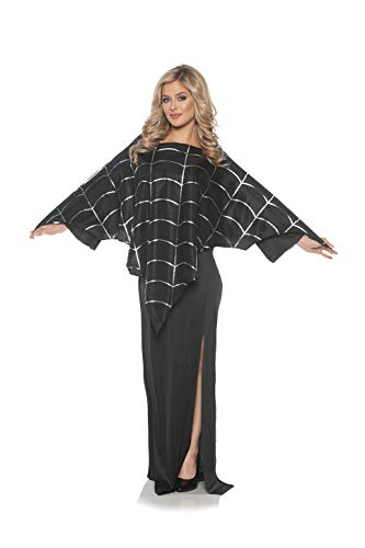 Underwraps Women's Poncho with Metallic Spider Web Design ()