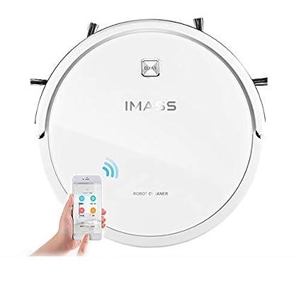 MRDEER Robot Aspirador,App Y Mando A Distancia/Detección Infrarroja/Reserva Inteligente/