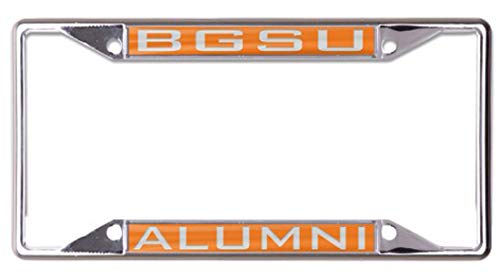Wincraft Bowling Green State University Alumni Premium License Plate Frame, Chrome Plated with Mirror Finish Letters