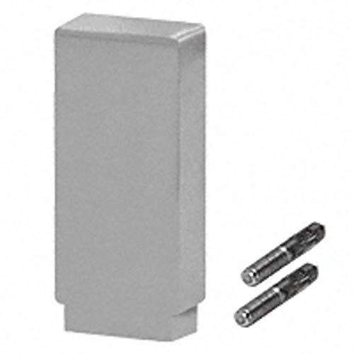 CRL Blumcraft 636ECSA Satin Anodized Decorative Flat End Caps for 636 Series Aluminum Cap Railings