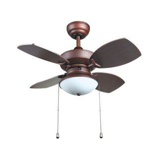 Transitional 28-inch Ceiling Fan in Rubbed Bronze - Aztec Ceiling Lighting