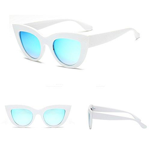 Mirror soleil eye Sunglass de Femmes Eyewear de Cat Retro yuxin Lunettes C1 soleil Vintage Lunettes qTw7BA