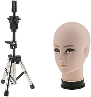 Sharplace Modelo Cabeza de Maniquí Estante de Sombrero Titular + Porta  Trípode  Amazon.es  Belleza 8a3540b17c1