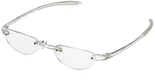 Visualites Vis2 VIS2CRC25 Rimless Reading Glasses, Crystal Clear, 48 mm