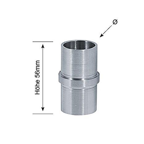 V2A-Eckbogen 90° zum Kleben für Rohr Ø33,7 oder 42,4 x 2,0 mm Gartenzäune & Sichtschutzwände