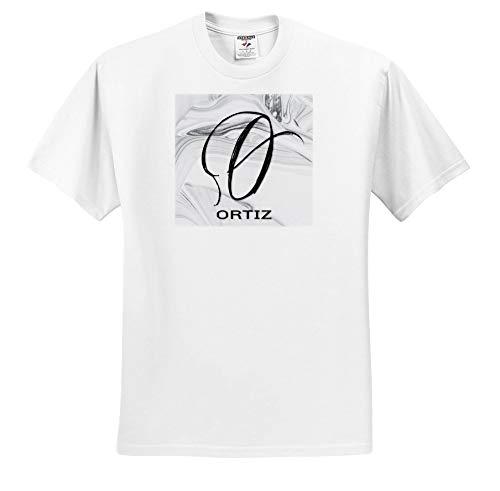 (BrooklynMeme Monograms - White Marble Monogram O - Ortiz - T-Shirts - White Infant Lap-Shoulder Tee (6M) (ts_306562_66))