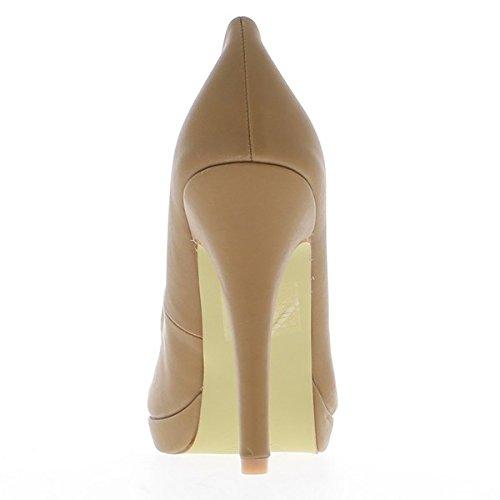 ChaussMoi - Zapatos de tacón de material sintético mujer