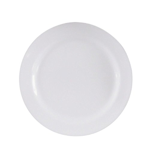Prato Redondo Em Melamina 18 Cm Branco 27569BB