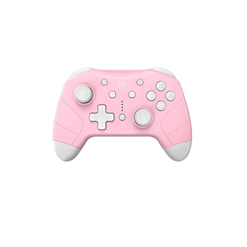 IINE Wireless Controller for Nintendo Switch/Lite Pink,Support Amiibo(NFC)With Turbo,Motion Control,Dual Shock for Nintendo Switch Controller