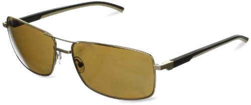 Tag Heuer Automatic 883 214 Polarized Rectangular Sunglasses,Gold,62 - Heuer Tag Sunglasses Automatic