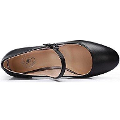 Talon 7 Chaussures 5 Boucle Lvyuan Eté À Cuir Beige Gros Cm Femme ggx Noir Talons wz7EqOS