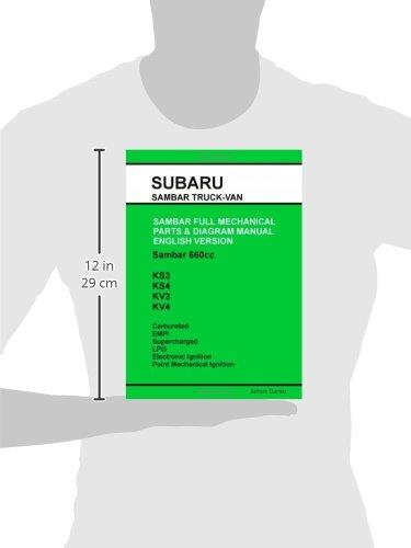 subaru sambar english parts diagram manual james danko subaru sambar english parts diagram manual james danko 9780557178032 amazon com books