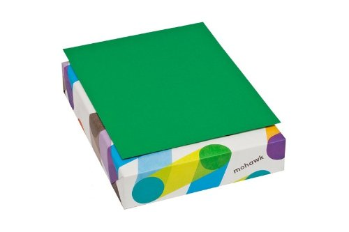 Mohawk BriteHue 24 lb/60 Vellum Text Paper, 8.5 x 11 Inch, 500 Sheets/Ream - Sold as 1 Ream, Green (104083)