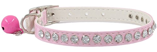 1Pc Howling Popular Crystal Diamonds Pet Collar Cat Assorted Adjustable Puppy Choker Color Pink