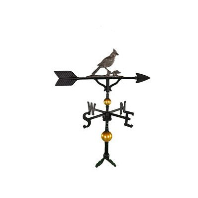 Cardinal Weathervane (Montague Metal Products 32-Inch Deluxe Weathervane with Swedish Iron Cardinal Ornament)