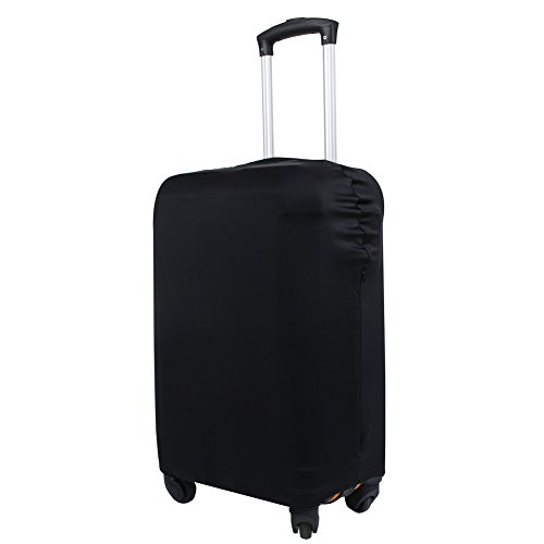 Explore Land Travel Luggage Cover Suitcase Protector Fits 18-32 Inch Luggage (Black, M(23-26 inch luggage))