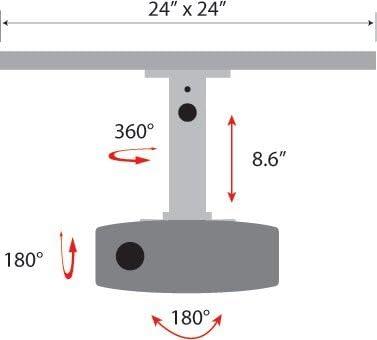 Amer AMRDCP100KIT Support d'écran plat pour bureau