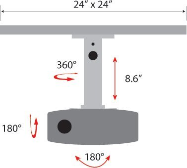 Universal Projector Drop In Ceiling Mount Buy Online In