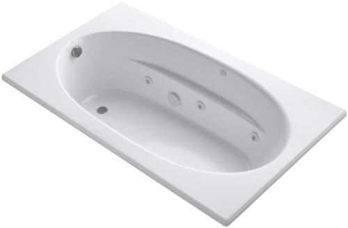KOHLER K-1114-0 Windward 6-Foot Whirlpool, White - Bath 6' Whirlpool