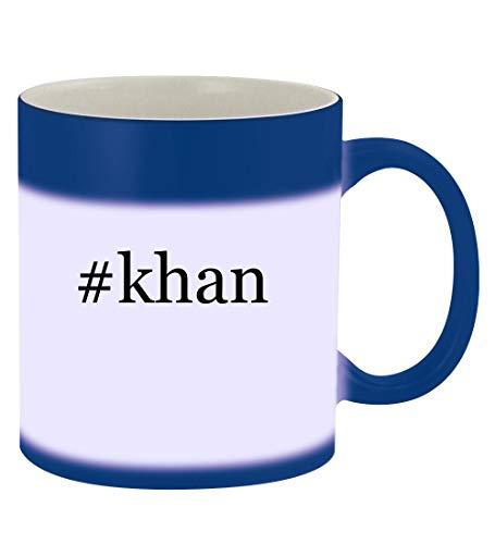 #khan - 11oz Hashtag Magic Color Changing Mug, Blue (Shahrukh Khan Best Images)
