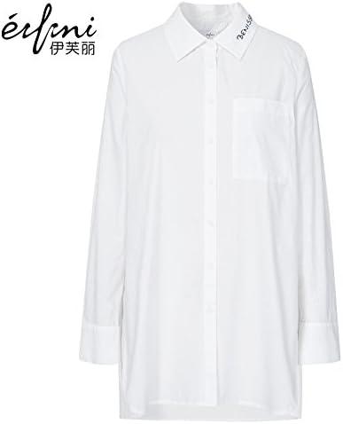 XXIN /Algodón Camisa Larga Camisa Blanca De La Mujer/Hembra/M ...
