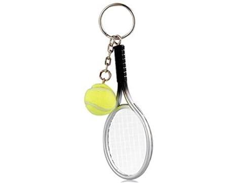 Aeromdale - Llavero para Raqueta de Tenis (Plata y Verde ...
