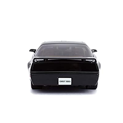 Jada 1: 24 Hollywood Rides Knight Rider KITT with Light Pontiac Firebird 30086, Black: Toys & Games