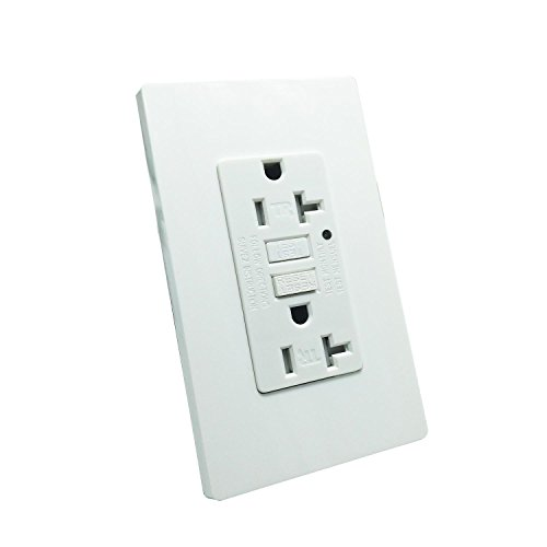 for iphoneX,iphone 8//8 plus,Samsung Galaxy and more UL Listed Wall Outlet with USB with 4 Free Wall Plates LASOCKETS Dual USB Ports 4.2A DC White Charger Socket,2-Outlet 15A TR Duplex Receptacle