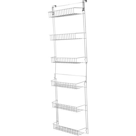 Everyday Home 5' Overdoor Rack with 6 Baskets, White
