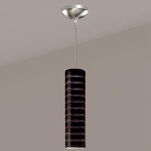 A19 Strata Mini Pendant, 3.25-Inch Width by 12-Inch Height, Black Gloss (Strata Pendant Mini A19)