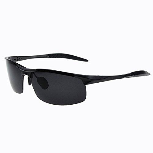 LXKMTYJ Yeux Lunettes Lunettes de soleil hommes Au polariseur miroir rétroviseur conducteur conduite ultra léger, lunettes carrés gris Canon