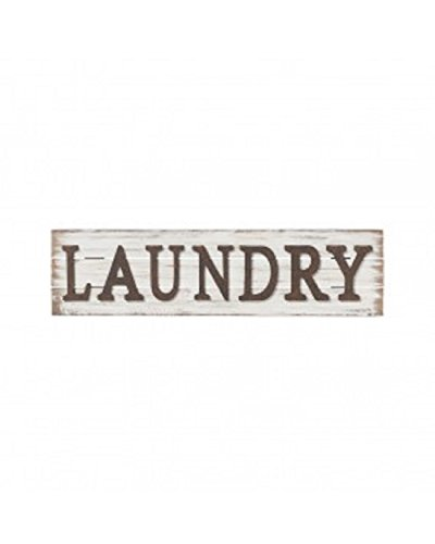 "Laundry White Barn Sign, 30"" W x 8"" T x 3/4"" D."