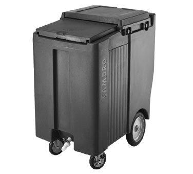 Cambro ICS200TB-157 Sliding Lid Polyethylene Tall Ice Caddy, 39-1/2-Inch, Coffee Beige (Coffee Beige Service Cart)