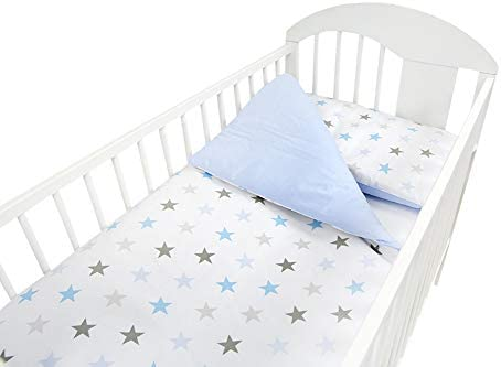 3 Piece Bedding Set with All-Round 4-Sided Bumper Fits Cot 120x60 cm Pattern 20