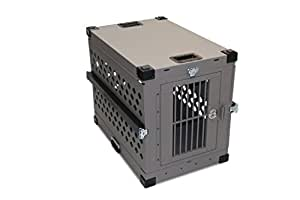 Impact Dog Crate (Collapsible), 400 Model, Large, Grey in Color